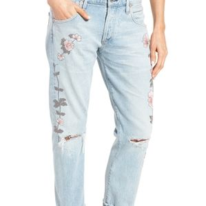Citizens of Humanity Distressed Floral Jeans